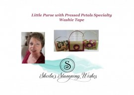 Little Purse with Pressed Petals Washie Tape