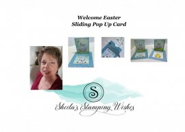 Welcome Easter- Sliding Pop Up Card